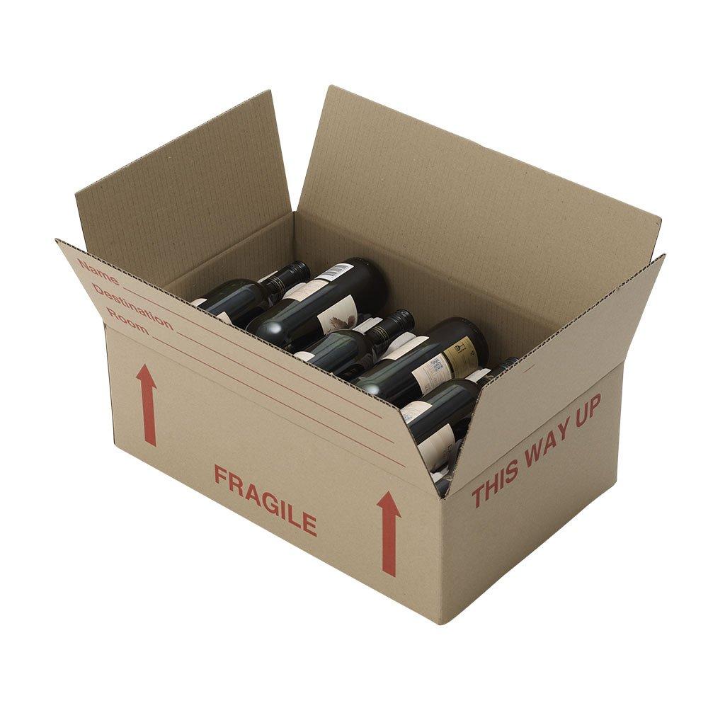 Wine storage box. Moving wine storing wine bottles packing wine bottles.